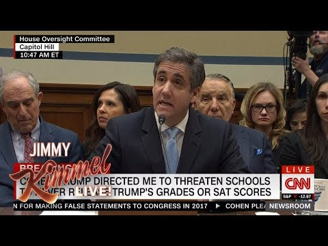 Jimmy Kimmel on Michael Cohen's Bombshell Testimony