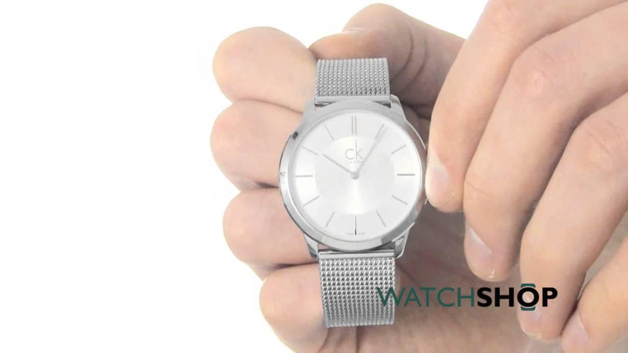 d6ff64415b0 Calvin Klein Men's Minimal Watch (K3M21126) - YouTube