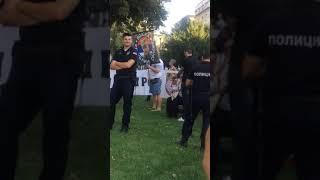 Skup Jakovićevih pristalica ispred Predsedništva 21.09.2018.
