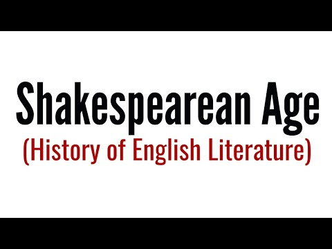 Shakespearean age: History of English Literature in Hindi