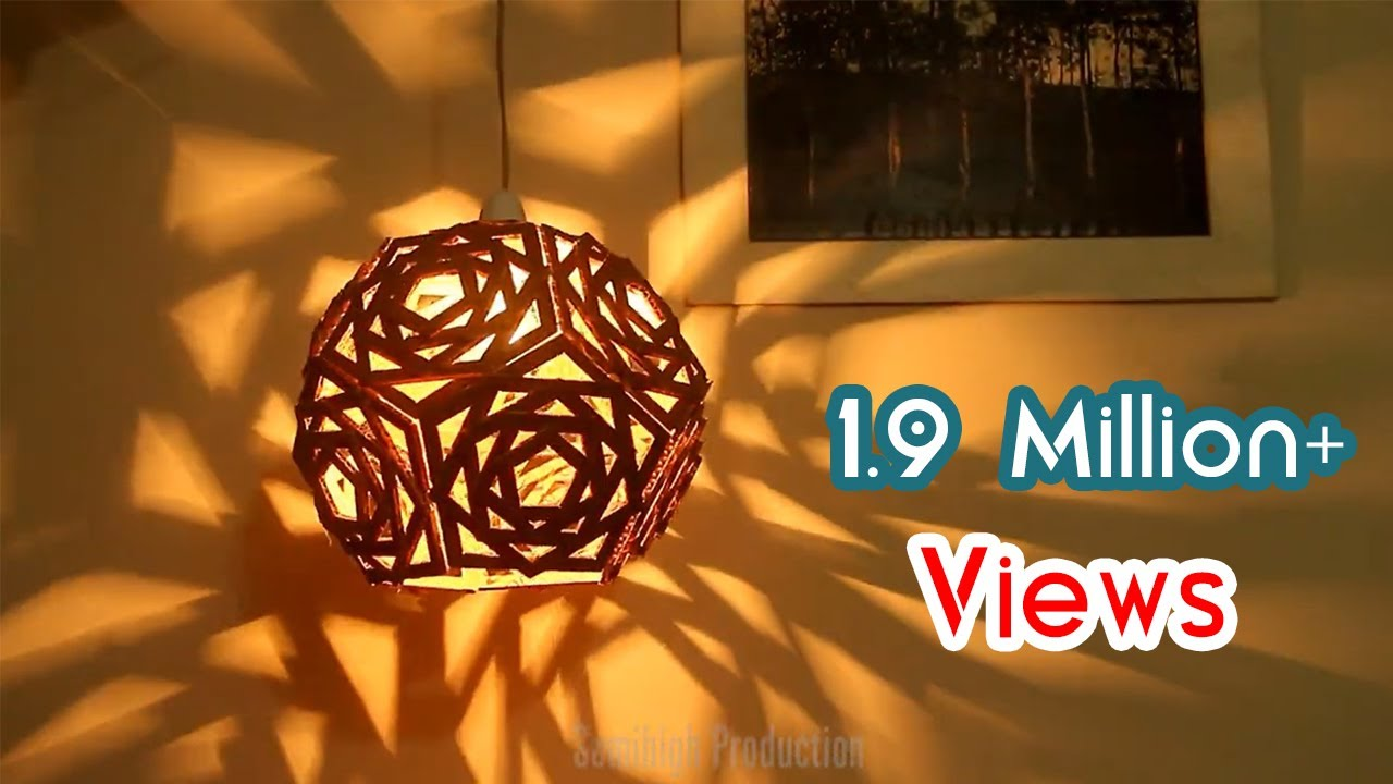 Recycled Cardboard Lampshade Ideas Diy Crafts