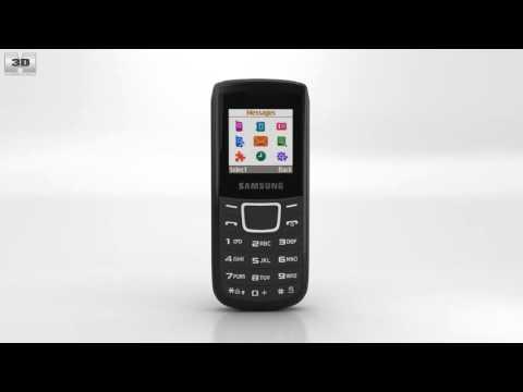 Samsung E1100 Black 3D model by Hum3D.com