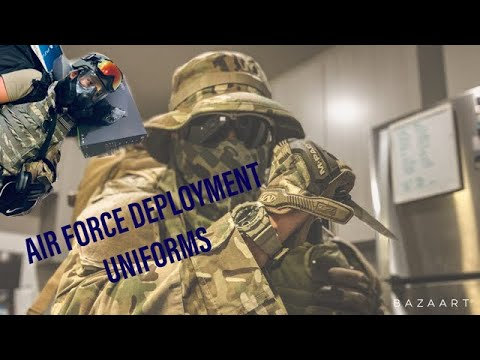 ISSUED AIR FORCE DEPLOYMENT GEAR / WHAT TO PACK FOR DEPLOYMENT