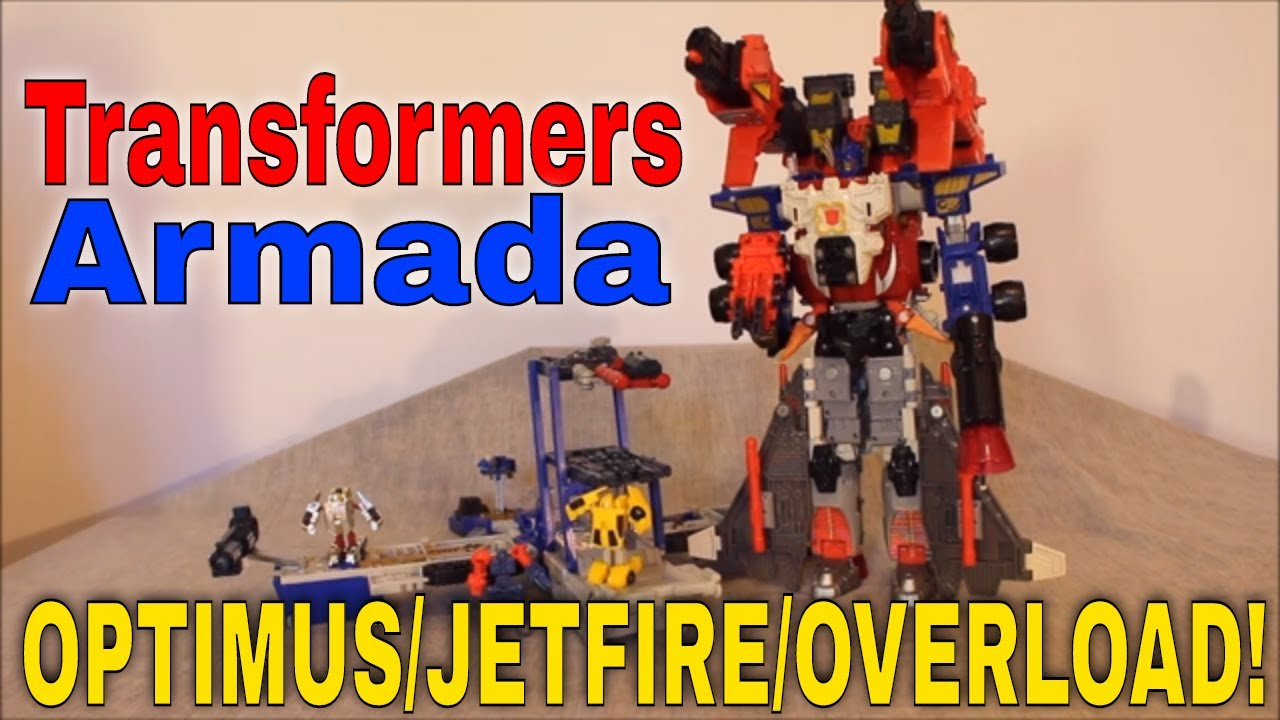 Armada Optimus Megaweapon Mode: Optimus/Jetfire and Overload Review by GotBot