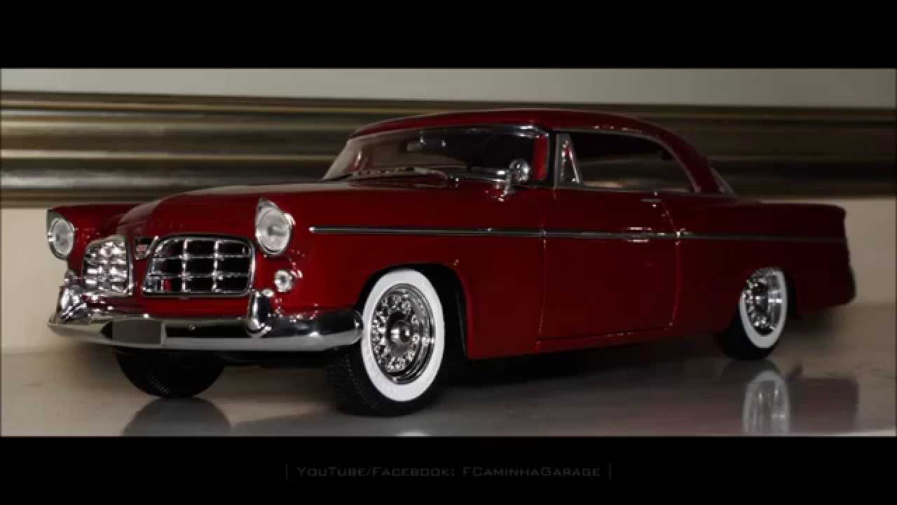 118 1956 Chrysler 300 B red by Maisto  FCaminhaGarage HD  YouTube
