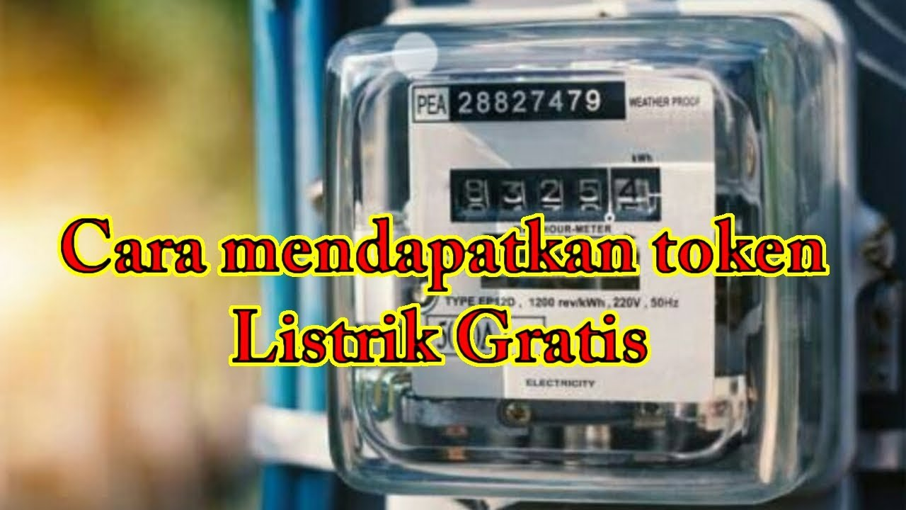 Cara mendapatkan token listrik gratis PLN - YouTube