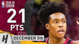 Collin Sexton Full Highlights Cavaliers vs Warriors 2018.12.05 - 21 Pts, 3 Ast, 2 Rebounds!