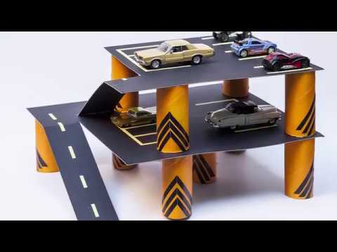 Tuvalet kağıdı rulosundan otopark / Let's built a car park with toilet paper rolls