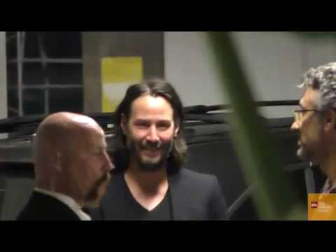Keanu Reeves CYBERPUNK 2077 Arrives At A Special Screening Of Semper Fi