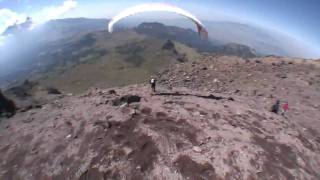 Acro Paragliding tricks in Mexico with the Red Bull Air Force HD