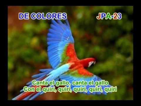 DE COLORES - SPANISH TRADITIONAL SONG