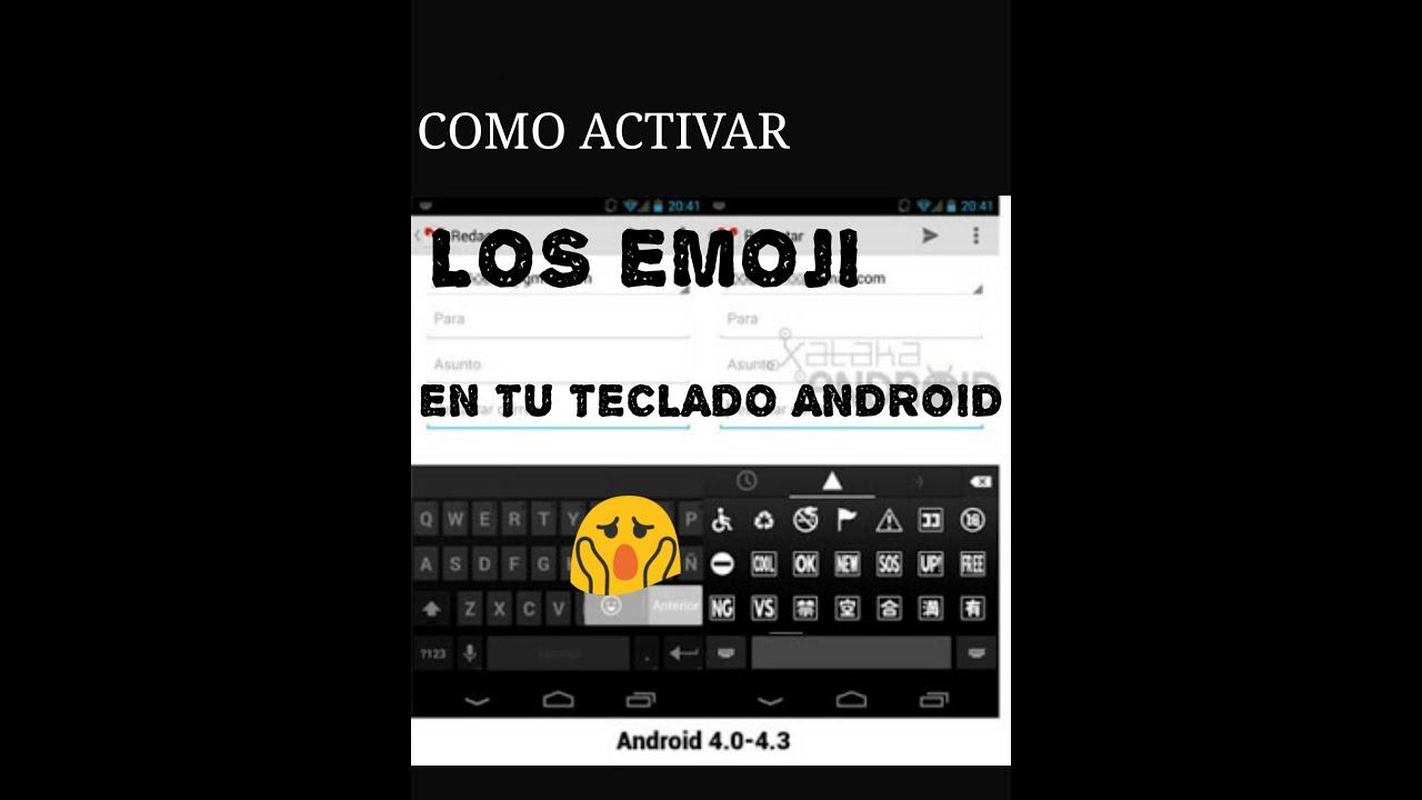como activar los emoji en tu teclado android youtube