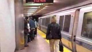 San Francisco BART train at Powell Station
