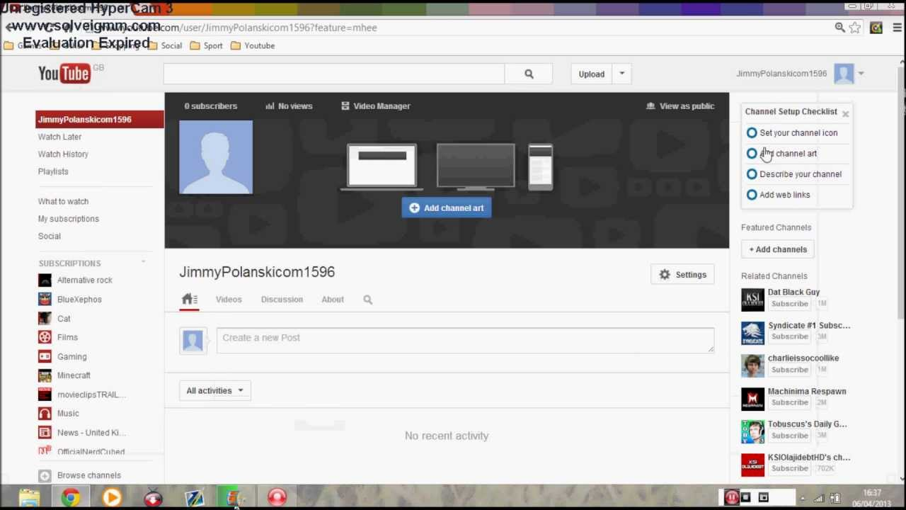 how to find youtube username