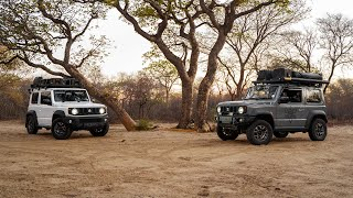 Enjoying Sunsets & Wildlife in Botswana Offroad in 2 Suzuki Jimny JB74 (2019)