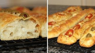 СТЕККА БЕЗ ЗАМЕСА.Получается у ВСЕХ!Невероятно вкусный и ароматный итальянский хлеб