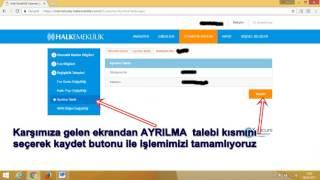 Halk Bankası Otomatik Bireysel Emeklilikten Çıkış