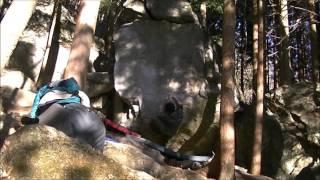 振られすぎて隣の岩に激突しため別の日に取り直し。足技がテク良い課題...