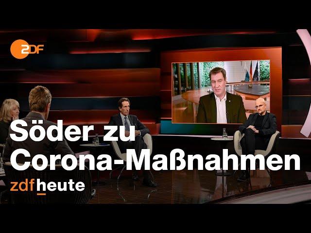 Söder zu weiteren Lockdown-Maßnahmen   Markus Lanz vom 12. November 2020