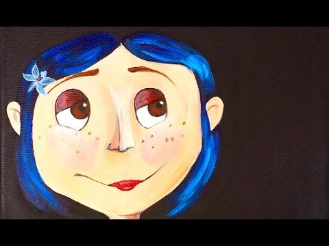 Coraline Step By Step Acrylic Painting On Canvas For Beginners Theartsherpa Youtube