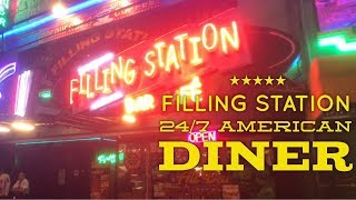 Filling Station Makati: Best 24/7 American Diner and Ice Cream Parlor Manila Philippines P. Burgos