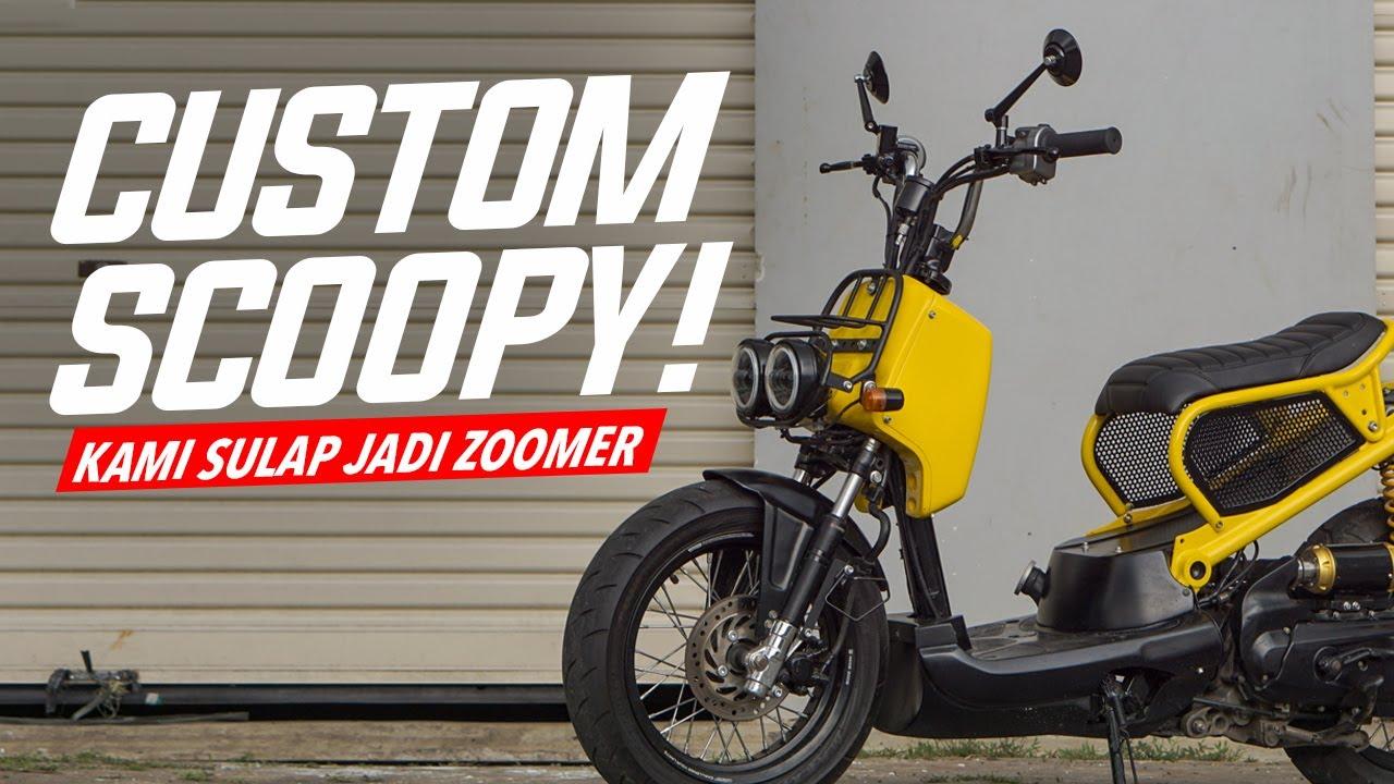 Custom Honda Scoopy Jadi Zoomer #AtenxKatros