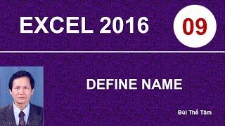 Excel 2016 – Bài 9. Define name – Tin học văn phòng
