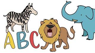 ABC - Alphabet mit Tieren   Deutsch lernen für Kinder   Learn German