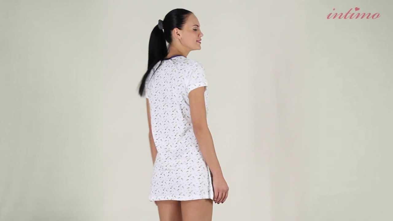 Женская шелковая ночная сорочка Prima - YouTube