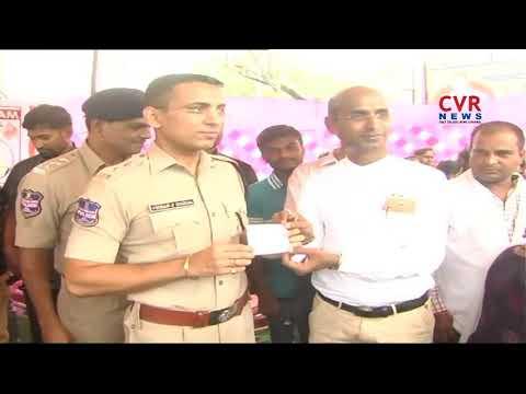 ఉచిత  బ్లడ్ గ్రూపింగ్ టెస్ట్  శిబిరం |  Ramagundam Commissioner Vikramjeet Duggal | CVR NEWS