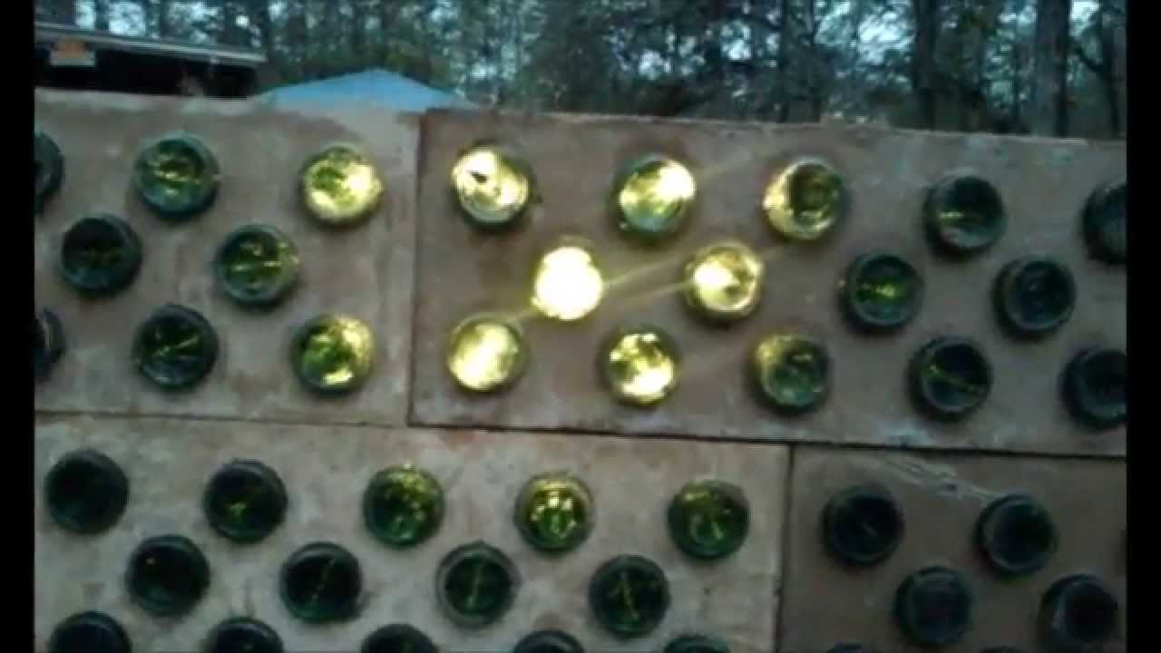 Building Beer Bottle Bricks Using Adobe Mud Stabilized