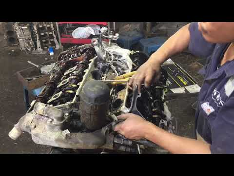 Kia Opirus 2008 Model V6 Engine Removal Of Cylinder Head Cover And Oil Pan