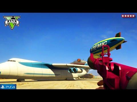 GTA 5 RARE NEXT GEN Vehicles - GTA 5 Online Cargo Plane, UFO, Blimp & Cars - GTA V Funny Moments PS4