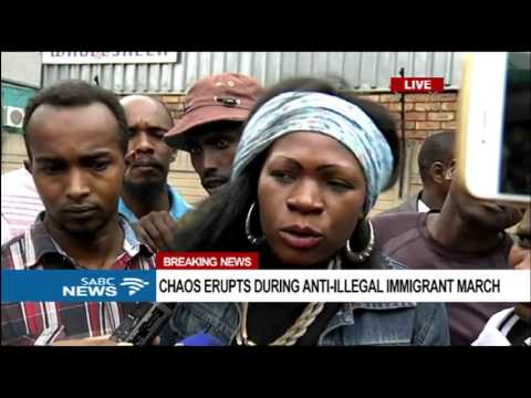 UPDATE: Chaos erupts at the anti-illegal immigrant march in Pretoria