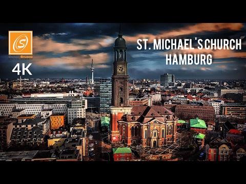 St.  Michael's Church - Walking Tour, Hamburg, Germany 4K UHD