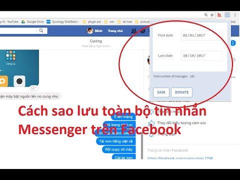 [PC] Cách sao lưu toàn bộ tin nhắn Messenger trên Facebook  đơn giản nhất 2017