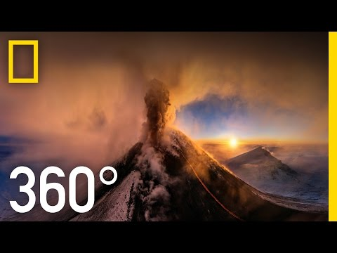 360° Kamchatka Volcano Eruption | National Geographic