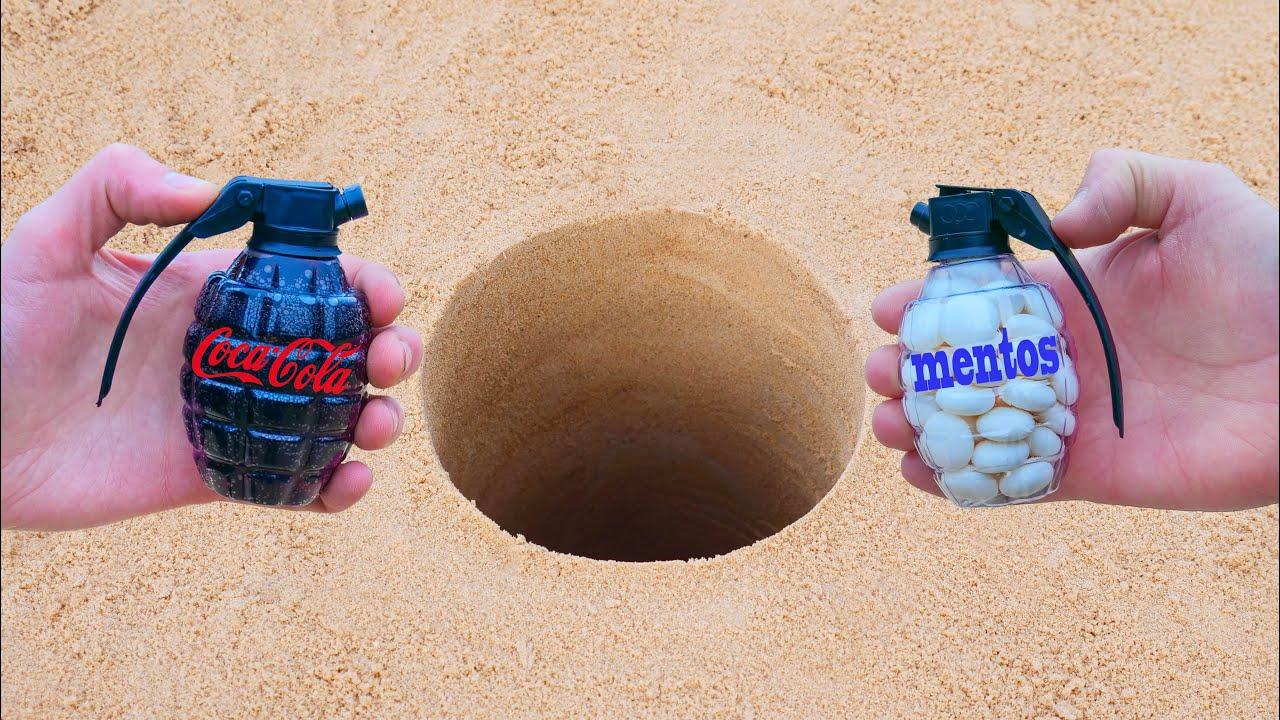 Experiment: Cola and Mentos Underground