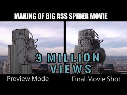 BIG ASS SPIDER (MAKING) - Hollywood Movie - Malik Gillani's Movie Animation Comparison Reel