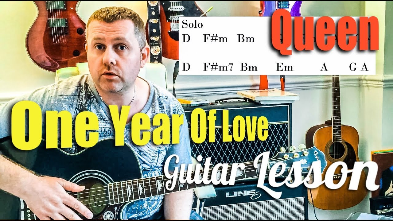 Queen One Year Of Love Acoustic Guitar Lesson Youtube