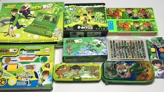 My Latest Ben toys & Stationery Collection, ben 10 laptop, ben 10 stunt car, ben 10 jumbo pencil box