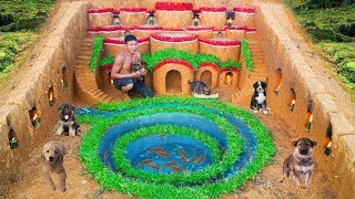 Build Underground House For Puppy And Fish Pond Around House Dog