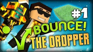 BRAND NEW: Minecraft The Dropper BOUNCE Part 1 w/ GhostGaming (Slime Bounce)