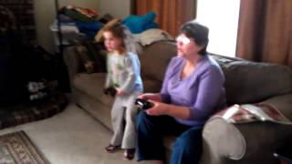 "Nana plays her first video game!  ""I have lightning!"""