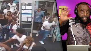 """Crazy Footage of 60 """"Teens"""" Looting and Vandalizing a Walgreens"""