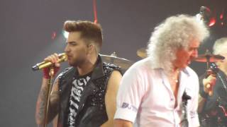 Adam Lambert & Queen Tie Your Mother Down Toronto 2 07-28-14