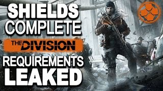 The Division | Shields Complete Requirements List Leaked | All Info Was Data Mined | Spoiler Alert