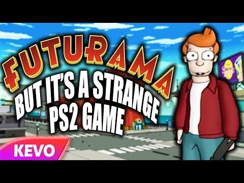 Futurama but it's a strange ps2 game