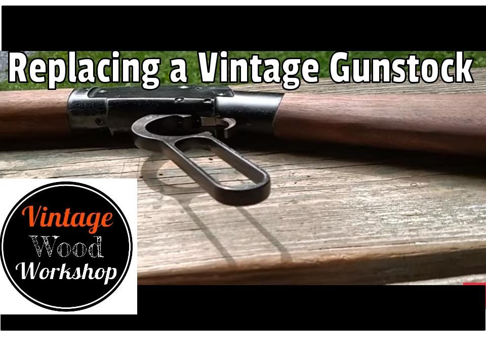 Lever Action Gun Stock from Firewood- Ithaca M49 - Part 1 Vintage Wood  Workshop