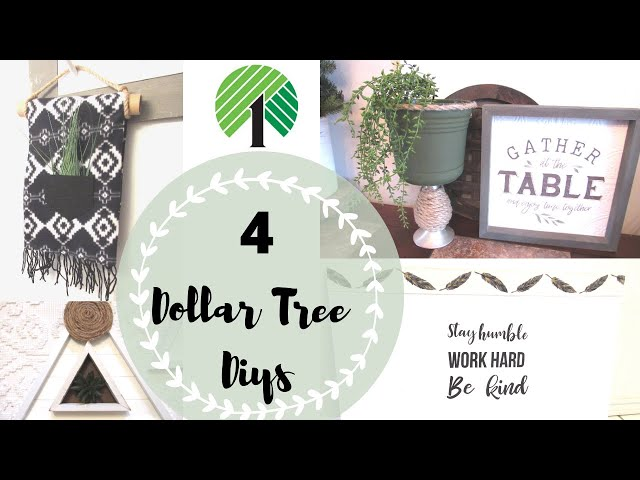 DOLLAR TREE DIY| Modern Farmhouse Spring Decor| Dollar Tree DIY 2020